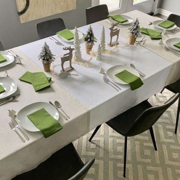 decor-de-table-de-noel-vert-green-christmas-table-decoration-35set-deco