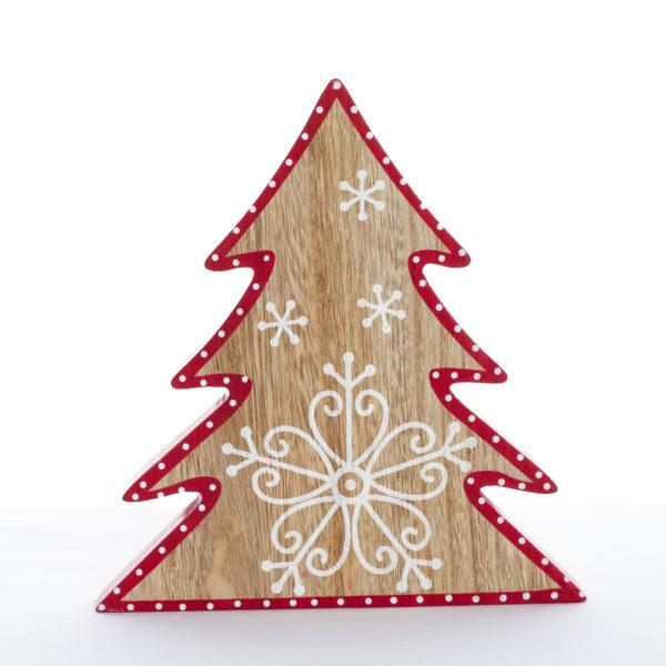 Sapins décoratifs bois rouge