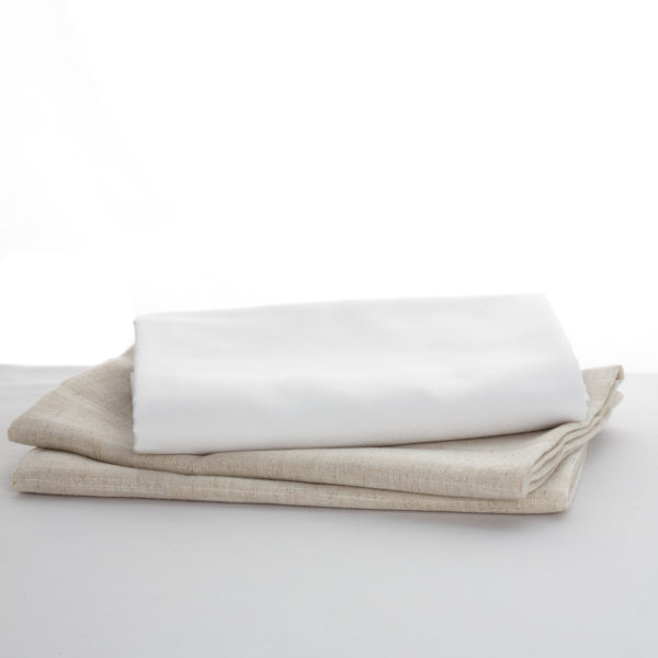 nappe blanche et extension lin naturel