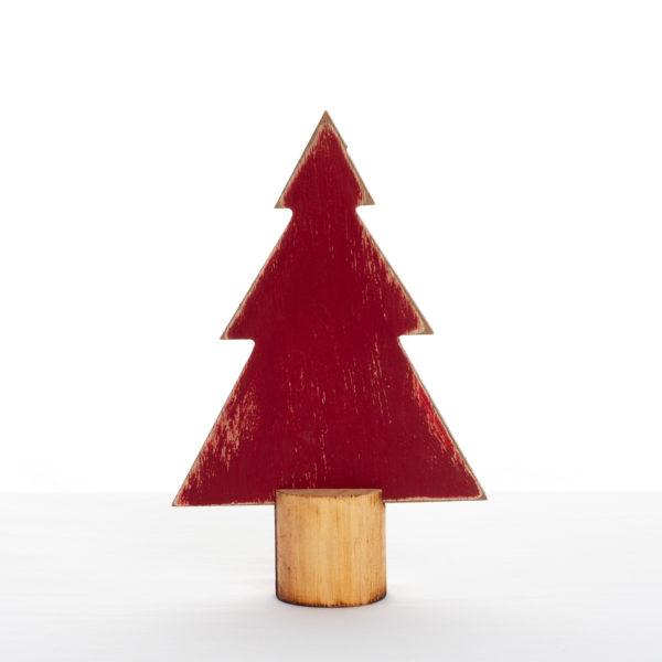 Sapin décoratif en bois rouge