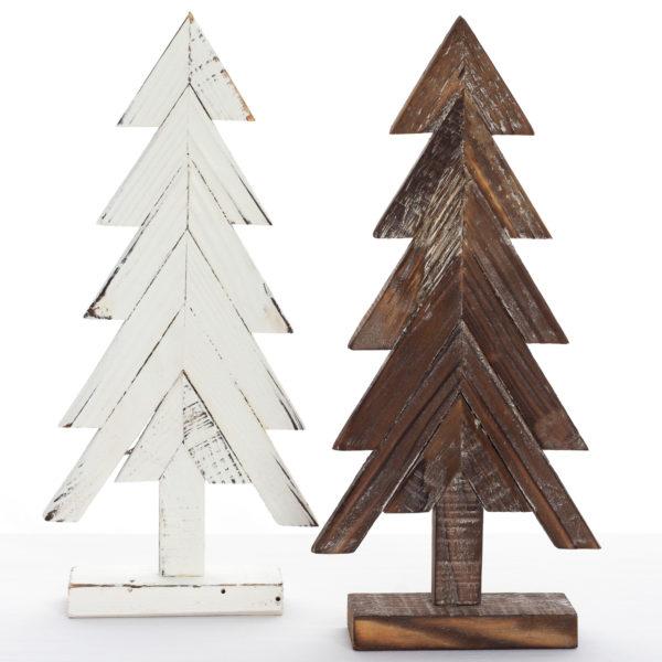 Sapins-décoratifs-en-faux-fini-bois-decoratif-three-fake-finish-35set-deco