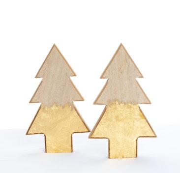Sapin bois Accessoire décoratif or pur