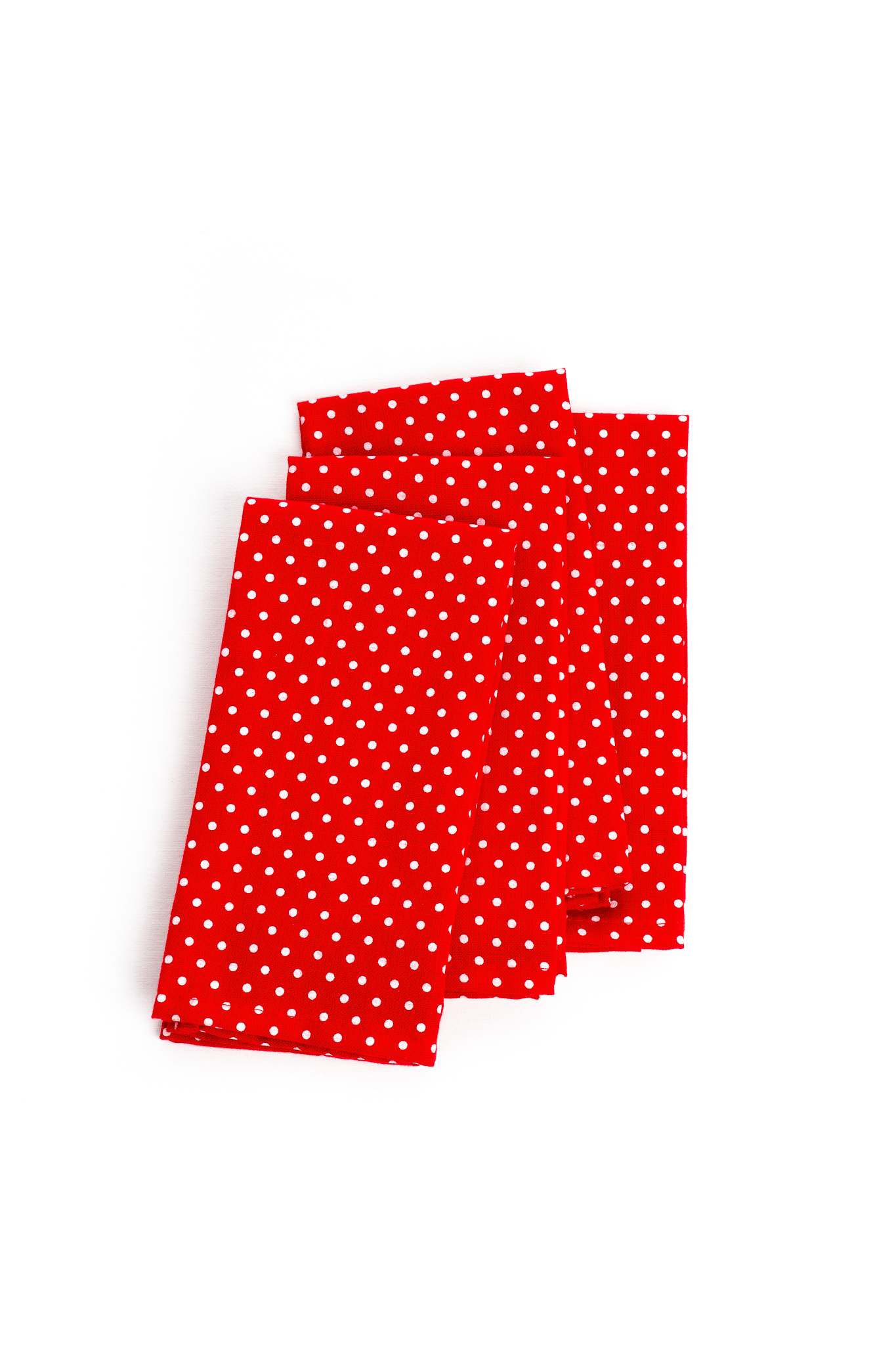Table Napkins In Red With White Dots Set Of 4 3 5 Set