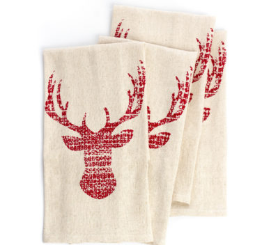 Serviettes-de-table-beige-avec-cerf-rouge-beige-table-napkin-red-deer-35setdeco