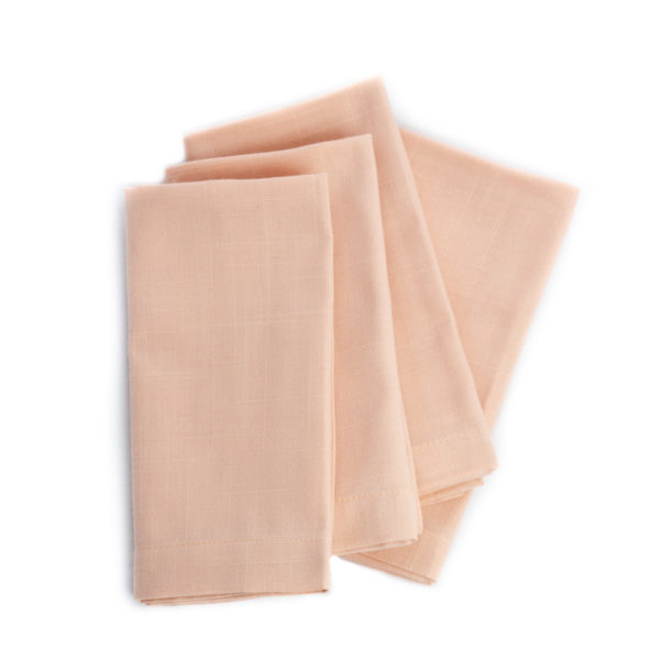 Serviettes de table rose champagne