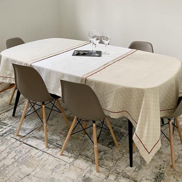 nappe-blanche-extension-imprimé-pois-white-tablecloth-dot-print-extension-35set-deco